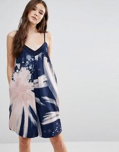 Платье с абстрактным принтом Closet - Мульти