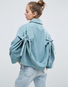 Куртка с бантами на спине ASOS - Зеленый