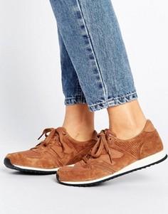 Светло-коричневые замшевые кроссовки с перфорацией New Balance 420 - Кремовый
