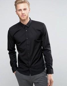 Узкая рубашка с блестящим воротником HUGO by Hugo Boss Ero 3 - Черный
