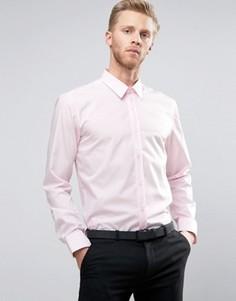 Розовая узкая рубашка из поплина HUGO by Hugo Boss Elisha - Розовый