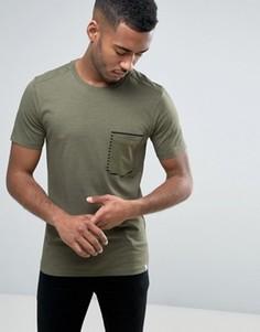 Футболка с принтом вокруг кармана Jack & Jones Core - Зеленый