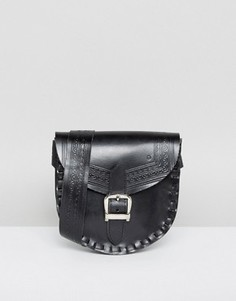Кожаная сумка на пояс с регулируемым ремешком Park Lane - Черный