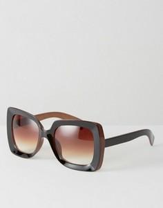 Квадратные солнцезащитные очки 7X - Коричневый