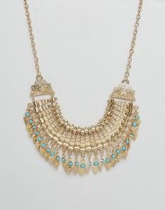 Броское фестивальное ожерелье Ruby Rocks - Золотой