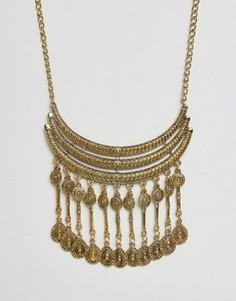 Броское ожерелье с подвесками Ruby Rocks - Золотой