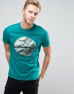 Зеленая узкая футболка PS by Paul Smith - Зеленый