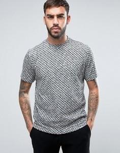 Серая меланжевая футболка классического кроя в горошек PS by Paul Smith - Серый