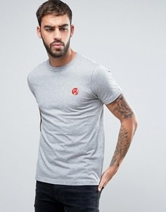 Серая меланжевая футболка узкого кроя с логотипом PS PS by Paul Smith - Серый