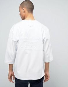 Белая футболка с рукавами 3/4 adidas Originals New York BJ9992 - Белый