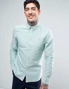 Хвойно-зеленая оксфордская рубашка слим на пуговицах Farah Brewer - Зеленый