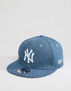 Джинсовая бейсболка New Era 9Fifty - Темно-синий