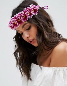 Украшение для волос с цветами и завязкой ASOS - Фиолетовый