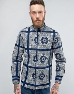 Синяя рубашка Edwin Standard Bandana - Темно-синий
