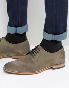 Серые замшевые туфли дерби ASOS - Серый