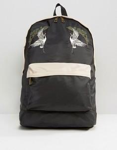 Сувенирный рюкзак с вышивкой ASOS - Черный