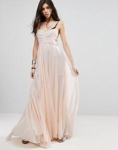 Платье макси Religion Olsen - Розовый