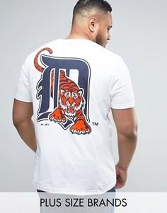 Длинная футболка с принтом Seattle Seahawks Majestic PLUS - Белый