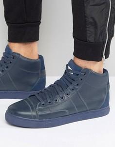 Высокие темно-синие кроссовки G-Star Stanton - Синий