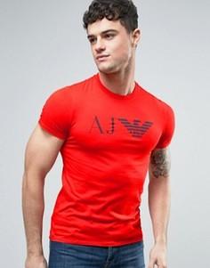 Красная узкая футболка с логотипом в виде орла Armani Jeans - Красный