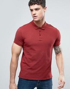 Красное поло классического кроя из пике с логотипом Armani Jeans - Красный
