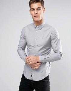 Серая эластичная рубашка с однотонным логотипом Armani Jeans - Серый