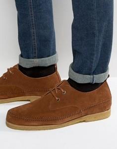 Светло-коричневые замшевые туфли на шнуровке ASOS - Рыжий