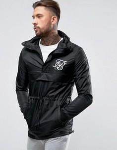 Черная куртка через голову SikSilk - Черный