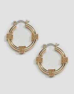 Серьги-кольца ASOS - Золотой
