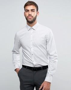 Меланжевая приталенная рубашка Calvin Klein - Серый