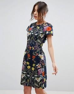 Платье с цветочным принтом Uttam Boutique - Темно-синий
