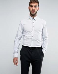 Суперузкая рубашка в горошек Calvin Klein - Белый