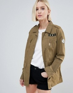 Куртка с армейскими нашивками Brave Soul - Зеленый