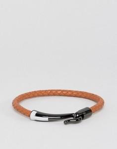 Светло-коричневый кожаный браслет Ted Baker - Рыжий