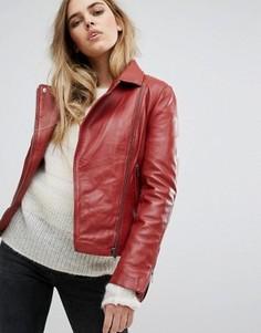 Кожаная байкерская куртка Muubaa Chello - Красный