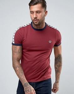 Темно-бордовая футболка Fred Perry Sports Authentic - Красный