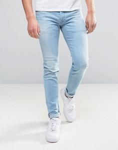 Светлые джинсы скинни Diesel Sleenker 084EB - Синий