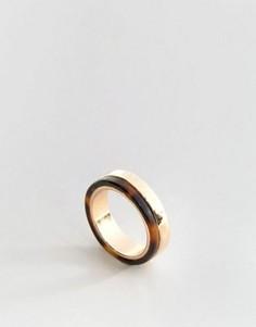Кольцо с черепаховой и золотистой отделкой ASOS - Золотой