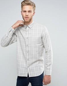 Узкая хлопковая рубашка Selected Homme - Stone