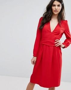 Красное платье миди BA&SH - Красный Ba&Sh