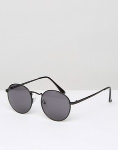 Черные круглые солнцезащитные очки D-Struct - Черный