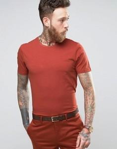 Хлопковая узкая премиум-футболка Devils Advocate - Коричневый