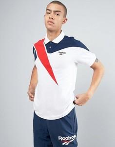 Белая футболка-поло Reebok Vector BK6578 - Белый
