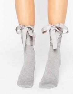 Носки с блестками и завязками ASOS - Серебряный