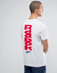 Серая футболка с логотипом в стиле 90-х Reebok BK6574 - Серый