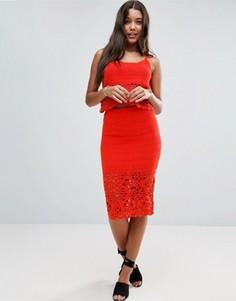 Комбинируемая юбка кроше ASOS - Оранжевый