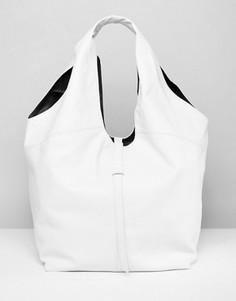 Кожаная сумка на плечо ASOS - Белый