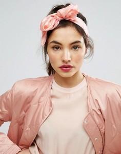 Головной платок с фламинго ASOS - Розовый