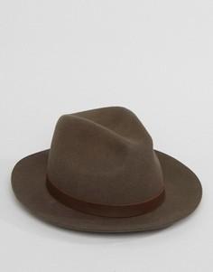 Мягкая фетровая шляпа Brixton Hopkins - Коричневый