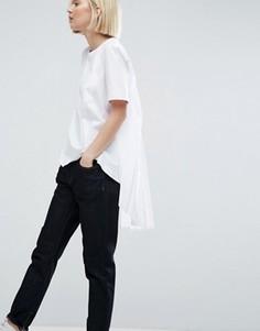 Футболка с карманом и отделкой сзади ASOS WHITE - Белый